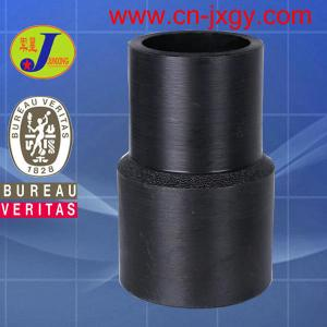 China hdpe plastic pipe fittings butt fusion reducing coupling on sale