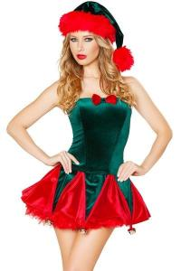 China Holiday Funny Christmas Costumes , Toy Maker Sexy Christmas Dress on sale