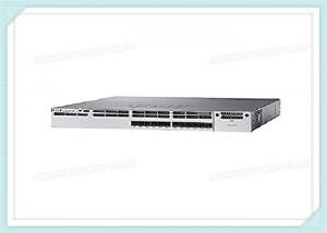 China WS-C3850-12XS-S Cisco Fiber Optic Switch 12 SFP / SFP+ 1G / 10G IP Base Wireless Controller on sale