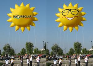 China Sun Shaped Custom Inflatable Helium Balloons And Blimps 0.18mm PVC Material on sale