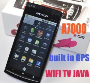 China A7000 Android2.2 Dual sim phone with WIFI TV GPS 4.1'' resistive and capacitive touch screen on sale