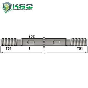 China Hollow Self Drilling core Threaded Drill Rod rock drill Rod Wrench Flat 45mm on sale