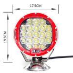 7inch 105W de la luz del trabajo del camión ligero de conducción del jeep de la luz 4x4 del trabajo del camino LED