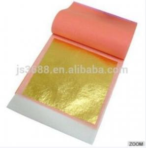 China The Useful Anti-aging,Anti-wrinkling 24K Pure Gold Leaf 8*8CM facial mask for skincare and Spa on sale