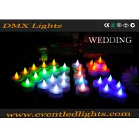 Wedding Decoration Rechargeable Led Candles , Wax Electronic Candles