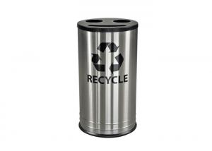 China Custom Design Stainless Steel Building Products / Stainless Steel Rubbish Bin For Park on sale
