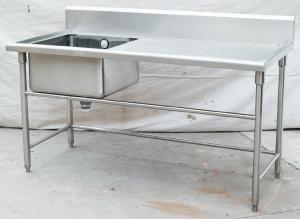 Commercial Restaurant Stainless Steel Catering Equipment Work - Stainless steel work table with sink