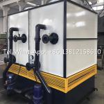 Industrial hydraulic oil cooling system evaprative machine