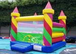 Colorful Candy Color Kids Birthday Party Inflatable Jumping Castles with small obstalces