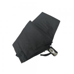 China Men's Business Auto Open Close Umbrella With PU Leather Bag In Black Color on sale