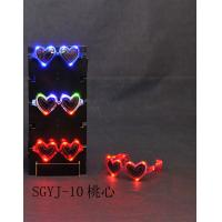 Party, Concerts Flashing Sunglasses / Led Flashing Heart Sunglasses For Kids, Young, Adults