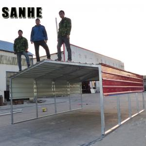 China Easy asemble backyard DIY steel shed car shelter kit large garage canopy metal portable car port on sale
