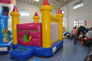 China Commercial Square Inflatable Combo Castle Bounce House With Slide on sale