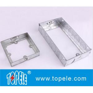 China BS GI Electrical One Gang /Two Gang Switch And Socket Box/EXTENSIONS BOX, Electrical Boxes And Covers on sale
