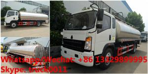 China 2018s YEAR-END PROMOTION! HOWO RHD 10M3 stainless steel milk tank truck for sale, HOT SALE! liquid food tank truck on sale