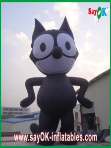China Inflatable Black Cat / Strong Oxford Cloth Inflatable Animal Cartoon Height 8m on sale