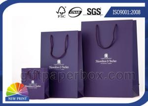China Large / Medium / Small Custom Paper Shopping Bags with Handles , Reusable Shopping Bag on sale