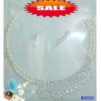 Crystal Costume Jewelry Beaded Pearl Necklace for Party 15 - 20g OEM