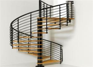 China Custom spiral staircase elegant solid wooden stairs staircase spiral stair for sale on sale