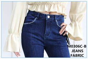 China 58 59  Width 9.8oz 99 Cotton 1 Elastane Indigo Dyed Denim Fabric Yarn on sale