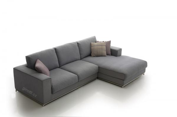 Modular Corner Sofa , Elegant Design Gren Fabric Sofas , Feather Cushion L