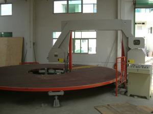 China Circle Horizontal Sponge Cutting Machine With Rotating Table For PU Square Foam on sale
