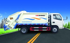 China 6cub and 12 cum compress rate 1:3 compressed garbage vehicle on sale