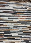 Quartzite Slate Sandstone Waterfall Shape Ledgestone,Mini Stacked Stone,Multicolor Thin Stone Veneer