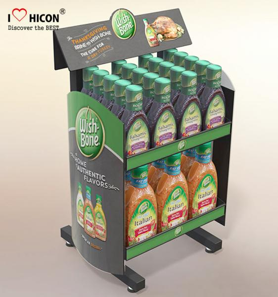 Drive Sales Food Store Supply Metal Display Rack Tiered