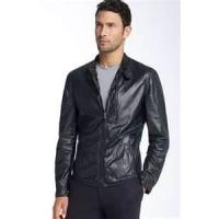 Autumn S M L XL XXL XLL fashionable men s Fleece Lined Leather jacket with fur collar