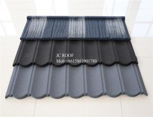 China CoffeeBrown Color 0.4 mmStoneCoatedSteelRoofingSheet sizes , 1340 x 420 mm MetalRoofingTiles on sale