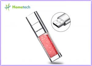 China Transparent crystal red decoration screen novelty flash drives Promotional gift on sale