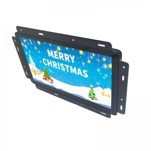 China Multimedia Open Frame LCD Display Metal Housing Black Built - In Media Player on sale
