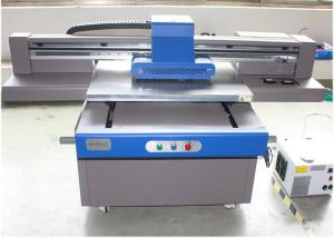 China Large Format Uv Printer A4 , Flatbed Uv Digital Printer With White / Glossy Ink on sale