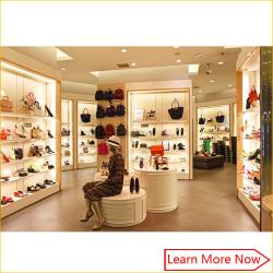 65547d9b0a58 China Fashion Designs Wood Shoe Rack Shelves Showcase with lighting  decorated for sale