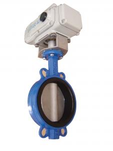 China Wafer Type Electric Butterfly Valve DN 250mm For Drink Water / Air on sale