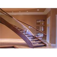 Pvc Handrail Building Curved Stairs Oak Stairs Non Slip AS/NZS 2208 Certificate