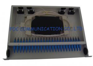 China 24Port E2000 Fiber Optic Patch Panel Full Loaded Adapters And Pigtails For Telecom on sale