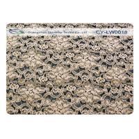 Elastic Flower Cotton Nylon Lace Fabric Elegant Anti Shrink CY-LW0018