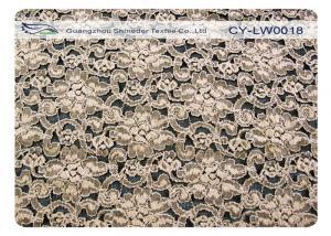 China Elastic Flower Cotton Nylon Lace Fabric Elegant Anti Shrink CY-LW0018 on sale