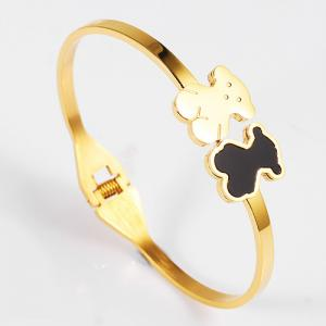 China Gold Plated Open Cuff Bangle Bracelet , 316L Stainless Steel Bracelets For Ladies on sale