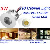 Mini 3W Led Cabinet Light Indoor Showcase KTV Rooms lighting DC12V CREE COB Led Lamp