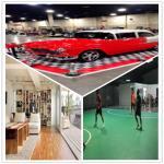 Guangzhou Fireproof PVC floor/exhibitions Floor/gym floor/sport floor /Interlocking Floor