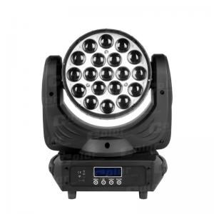China 19 * 15W RGBW Moving Head LED Wash Zoom Concert Lighting with DMX 512 Control on sale
