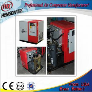 China Pollution - Free Red Color Screw Type Air Compressor Environmental Friendly on sale