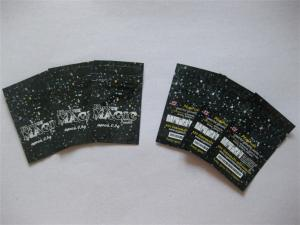 China Flower Magic Herbal Incense Packaging , Recyclable Foil Zipper Pouches on sale