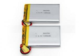 China Lithium Polymer Battery 3.7 V 1S Li-polymer 1200mah 503759 Rechargeable Battery on sale