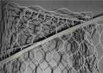 Double Twist Pvc Coated Gabion Basket / Galvanized Wire Mesh 2m x 1m x 1m