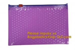 China Hot sale customized Slider bubble bag, Reclosable Bubble zip lock packaging bag,Insulation Packing Bag Thermal 3D Box Li on sale