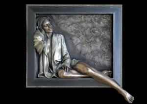 Quality Decorative Sexy Woman Statue , Art Work Bronze Charismatic Relief 150*150cm for sale